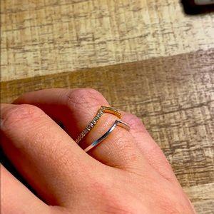 Chevron Pandora Shine and Solid Silver Rings